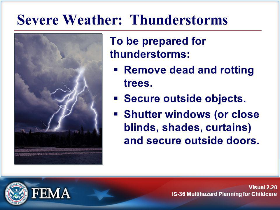 Severe Weather: Thunderstorms