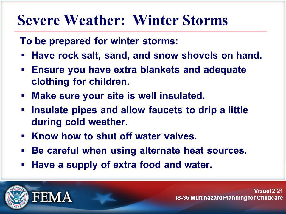 Severe Weather: Winter Storms