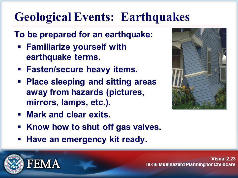 Geological Events: Earthquakes