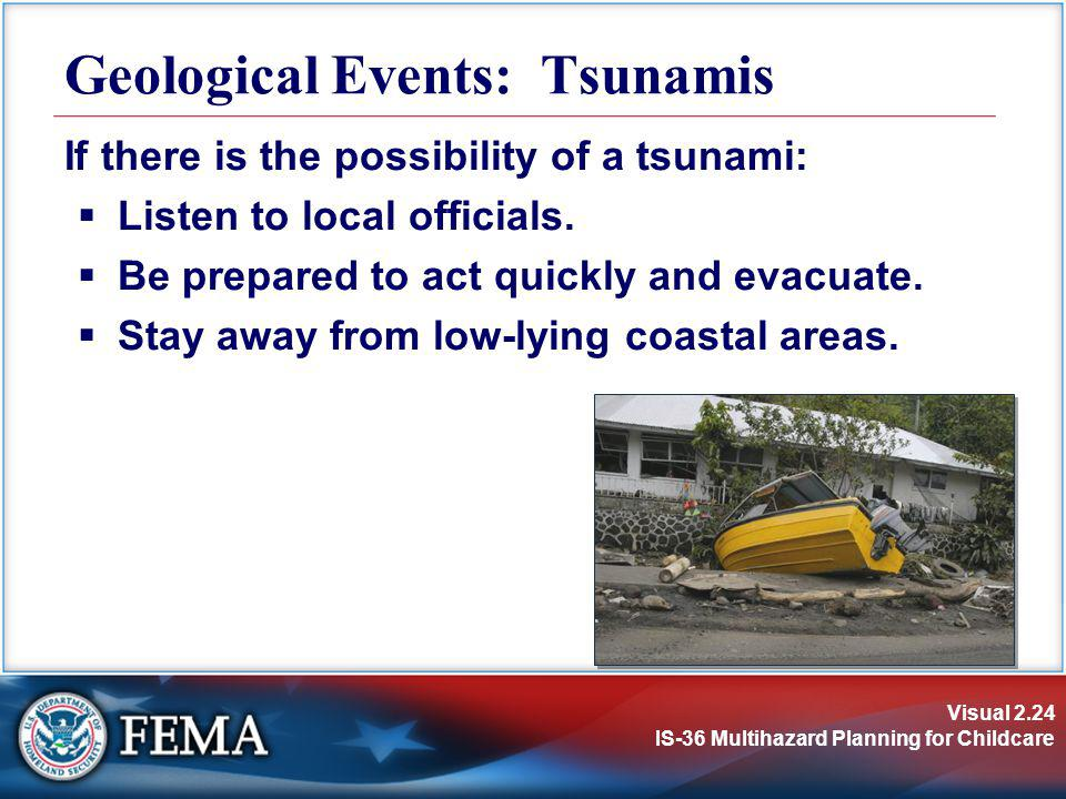 Geological Events: Tsunamis