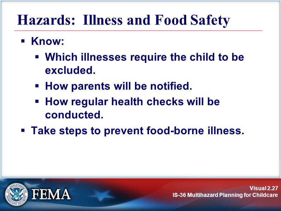Hazards: Illness and Food Safety