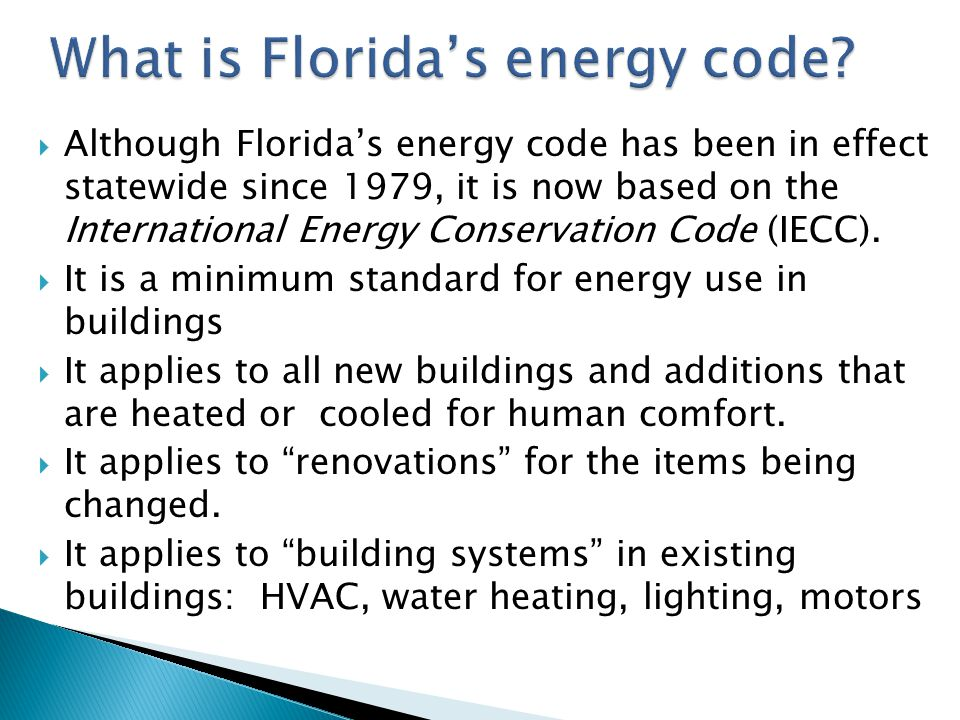 What is Florida's energy code