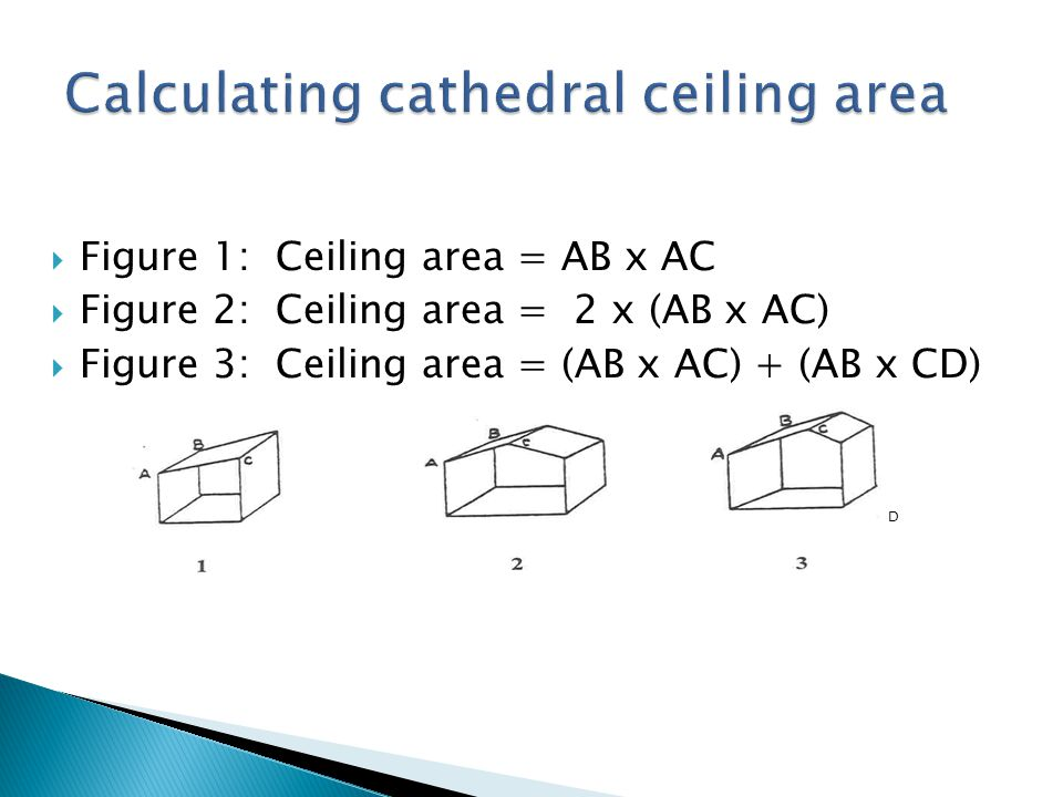 Calculating cathedral ceiling area