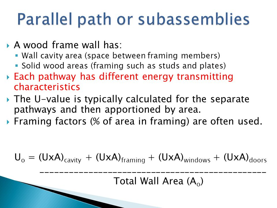 Parallel path or subassemblies