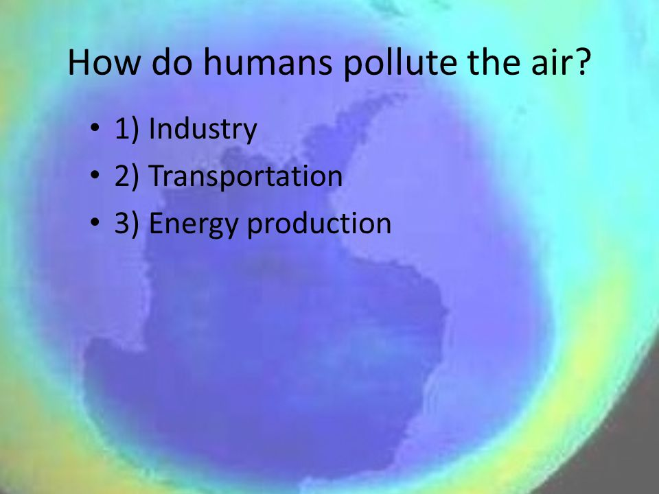 How do humans pollute the air