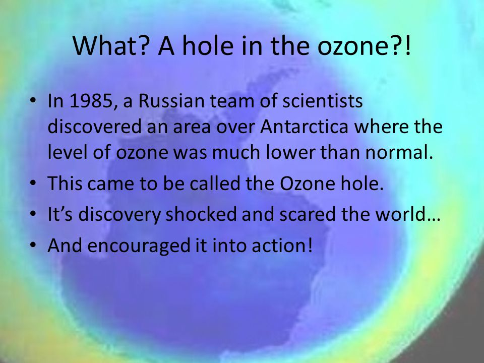 What A hole in the ozone !