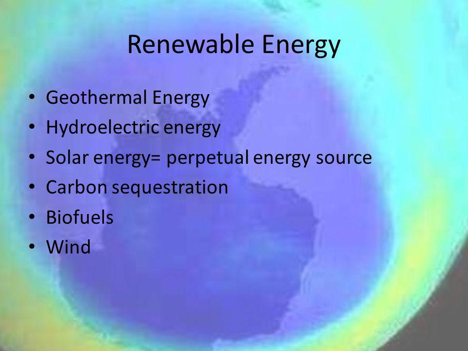Renewable Energy Geothermal Energy Hydroelectric energy