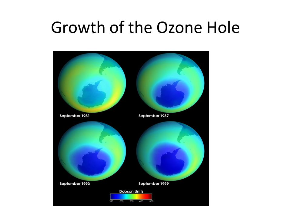 Growth of the Ozone Hole