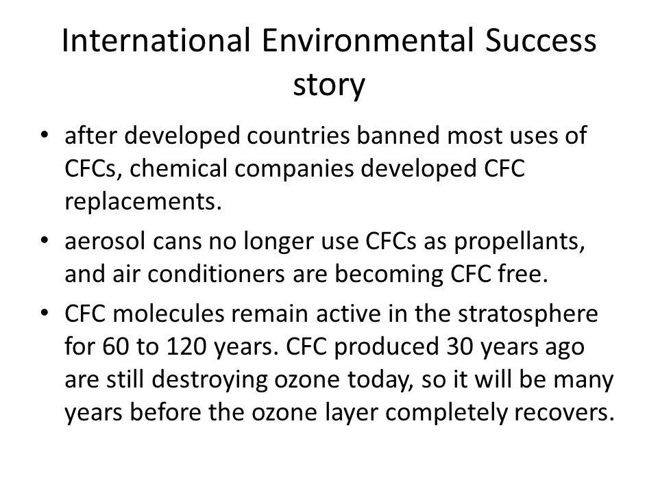 International Environmental Success story