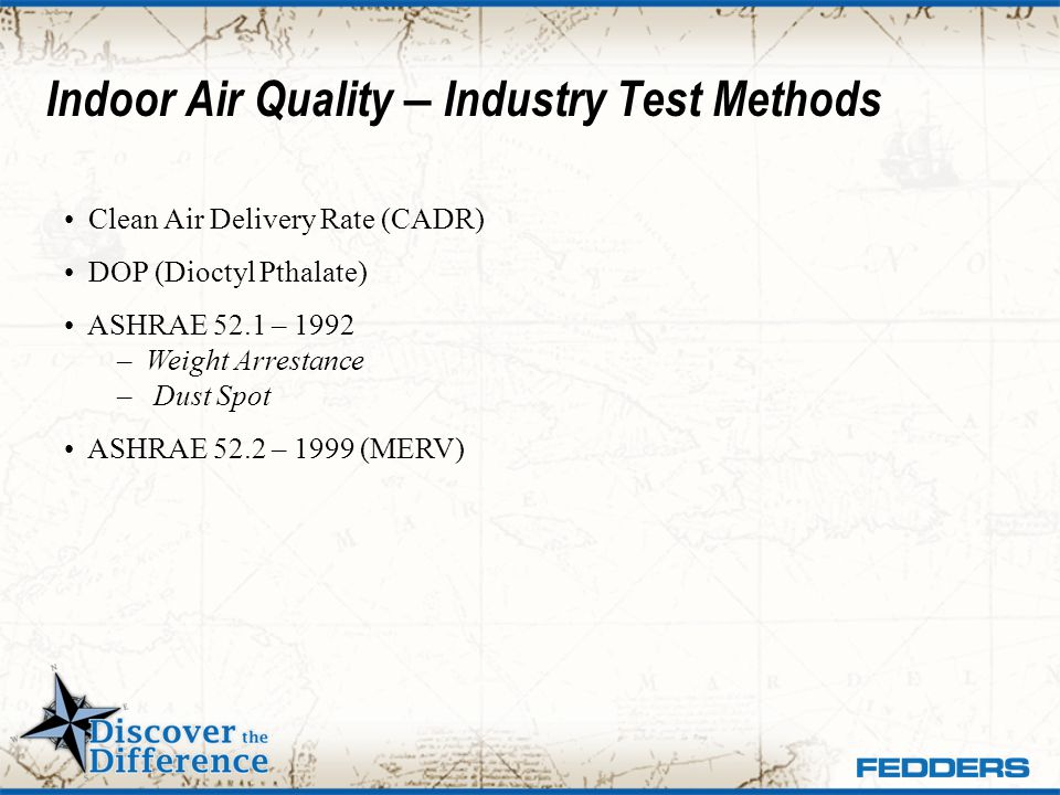 Indoor Air Quality – Industry Test Methods