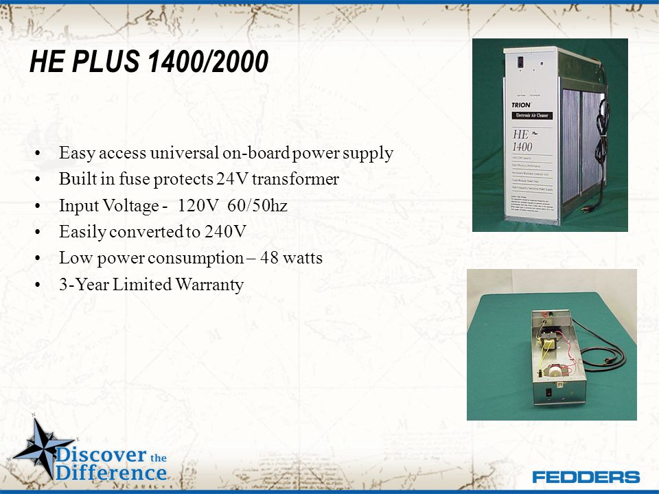 HE PLUS 1400/2000 Easy access universal on-board power supply