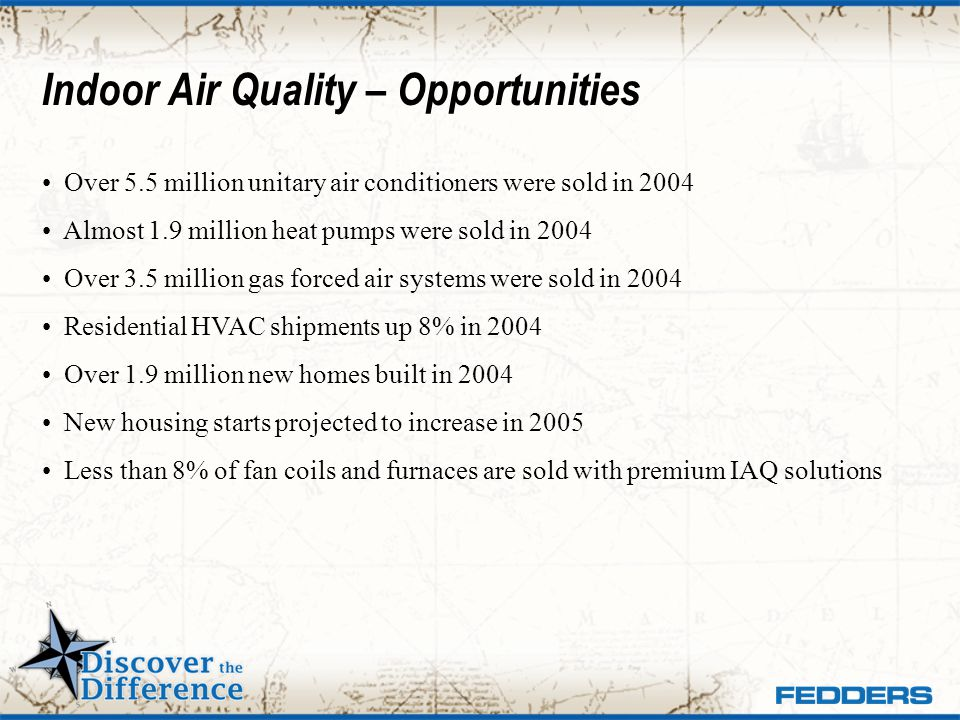 Indoor Air Quality – Opportunities