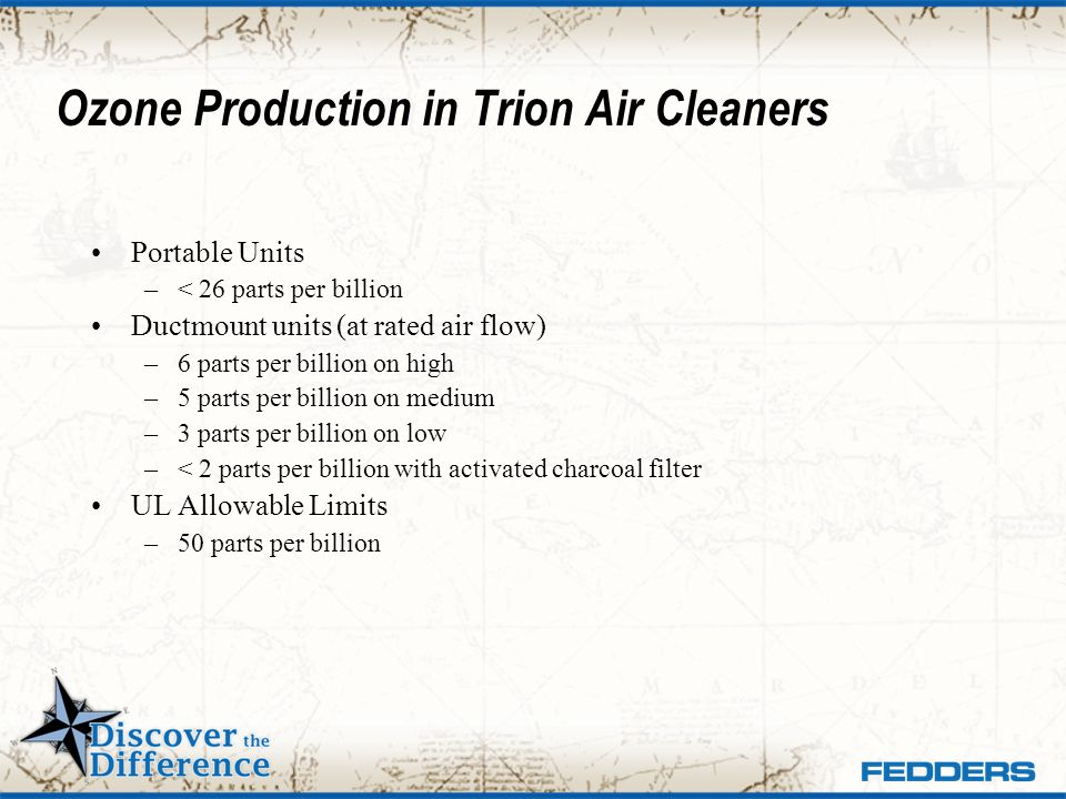 Ozone Production in Trion Air Cleaners
