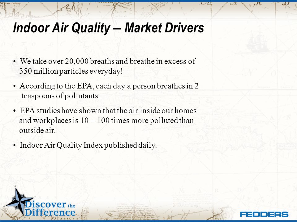 Indoor Air Quality – Market Drivers