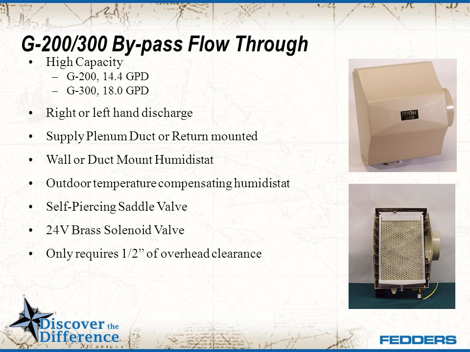 G-200/300 By-pass Flow Through