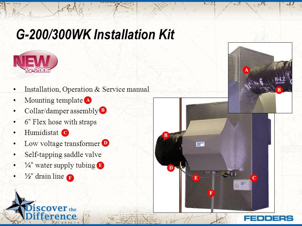 G-200/300WK Installation Kit