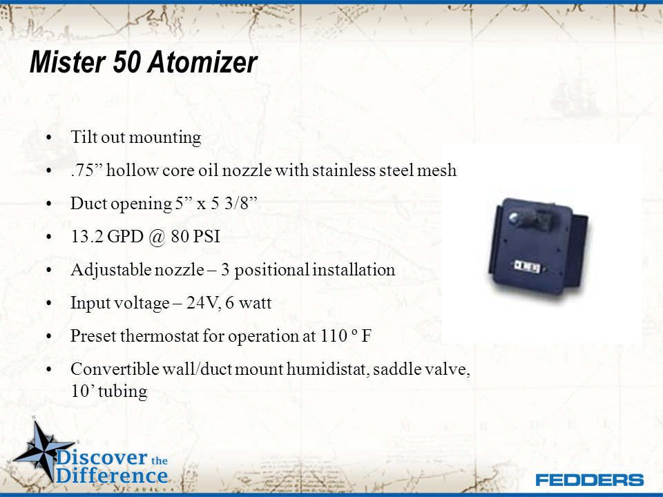 Mister 50 Atomizer Tilt out mounting