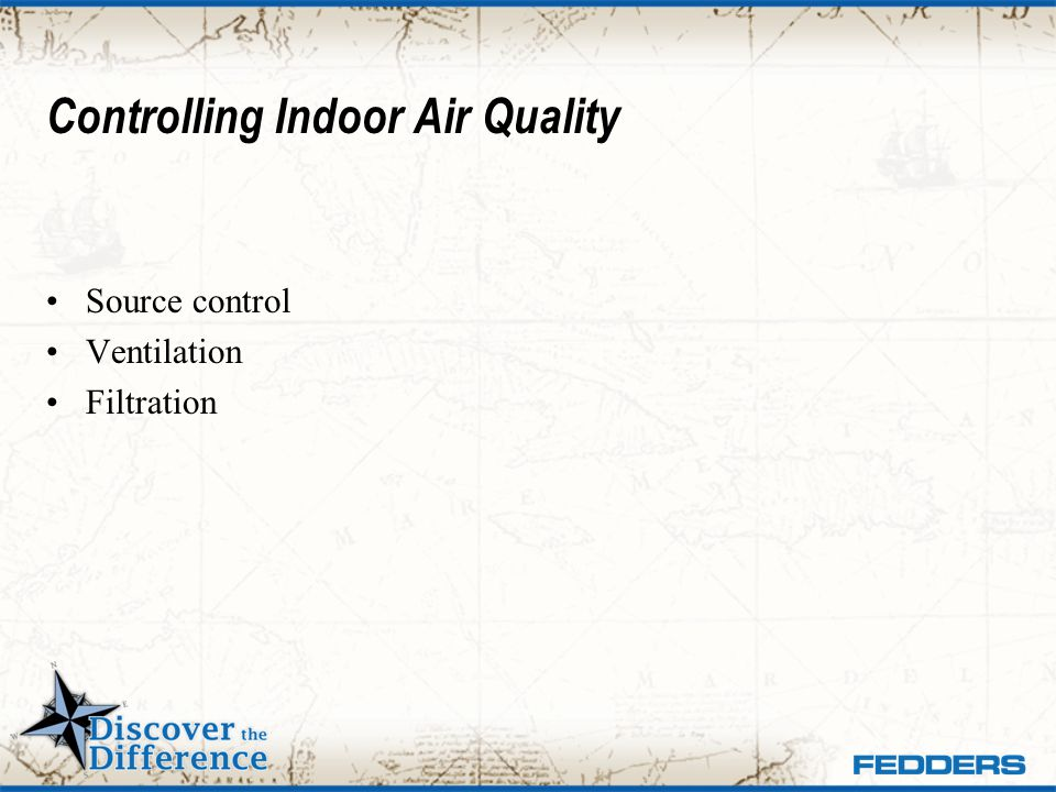Controlling Indoor Air Quality