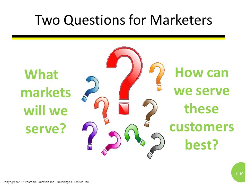 Two Questions for Marketers