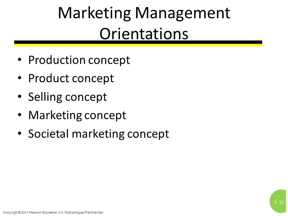 Marketing Management Orientations