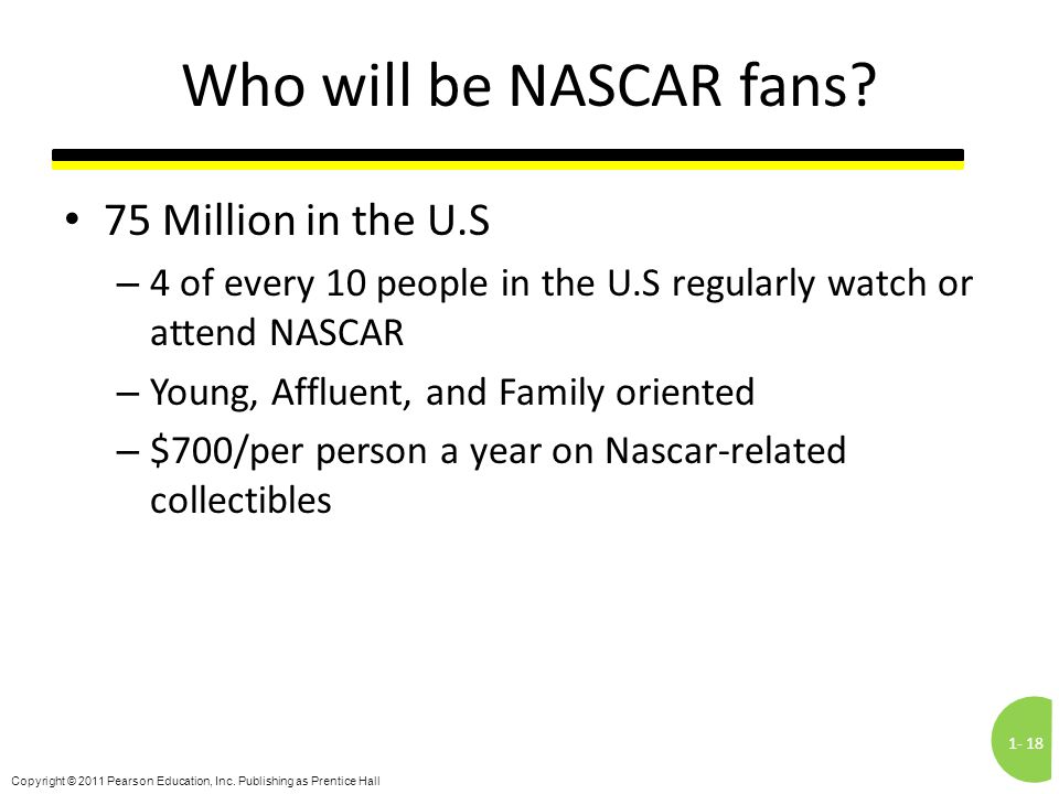 Who will be NASCAR fans 75 Million in the U.S