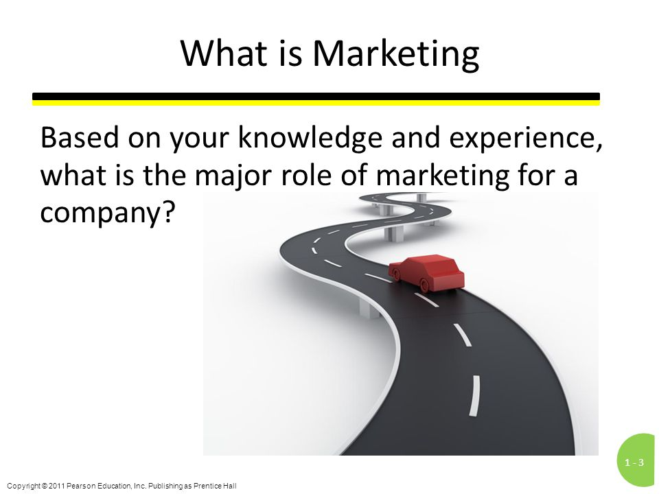 What is Marketing Based on your knowledge and experience, what is the major role of marketing for a company