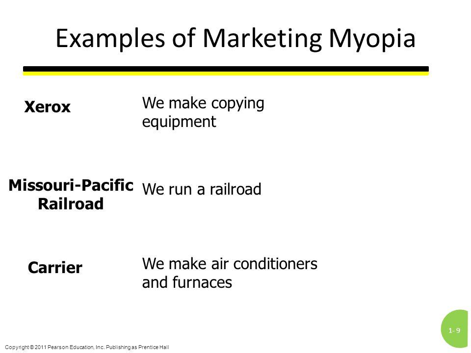 Examples of Marketing Myopia