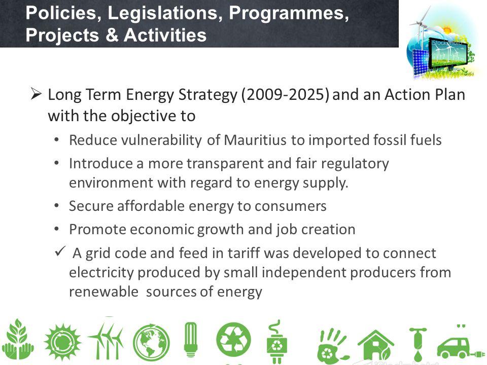 Policies, Legislations, Programmes, Projects & Activities