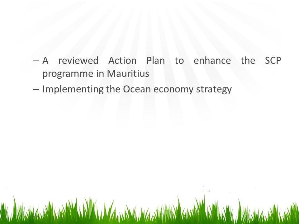 A reviewed Action Plan to enhance the SCP programme in Mauritius
