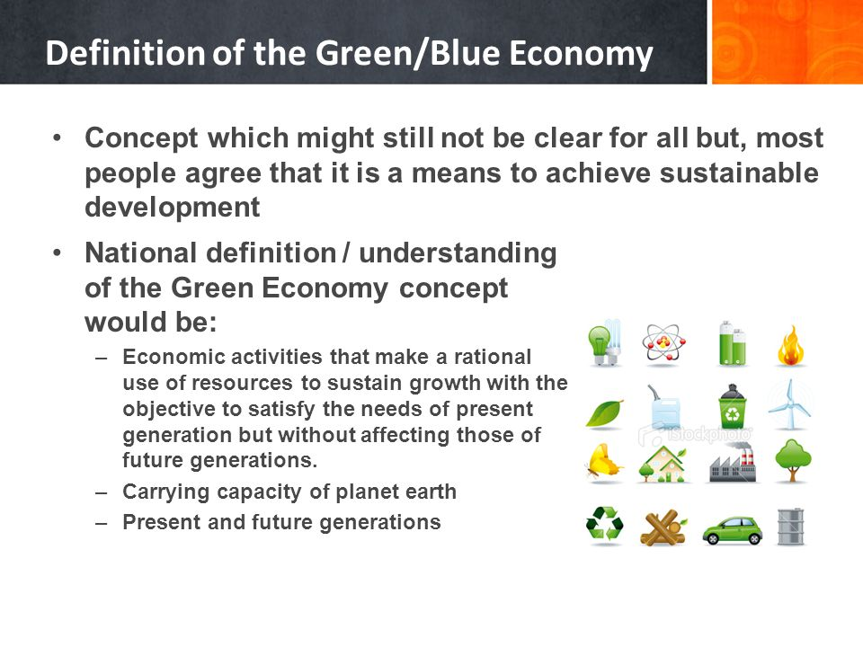 Definition of the Green/Blue Economy