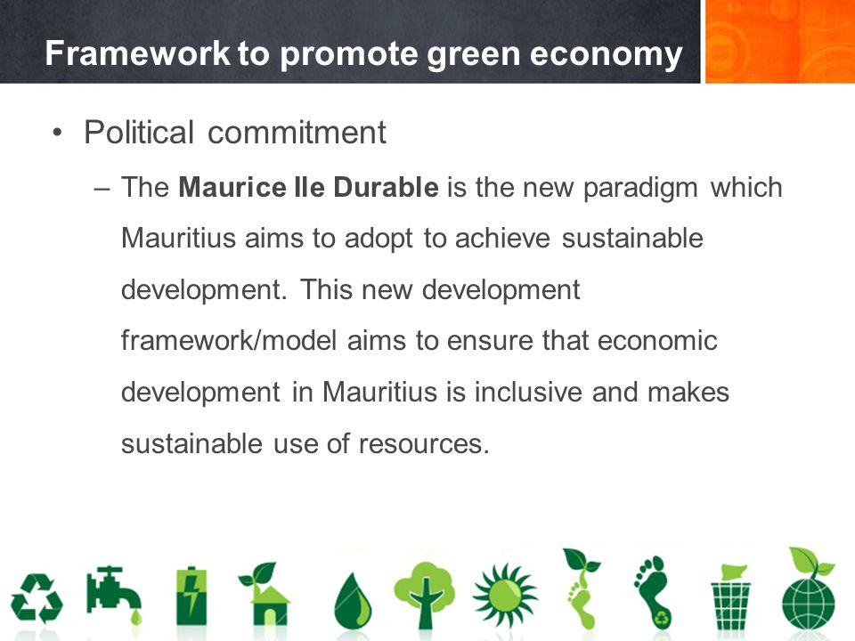 Framework to promote green economy