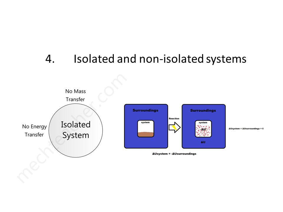 4. Isolated and non-isolated systems