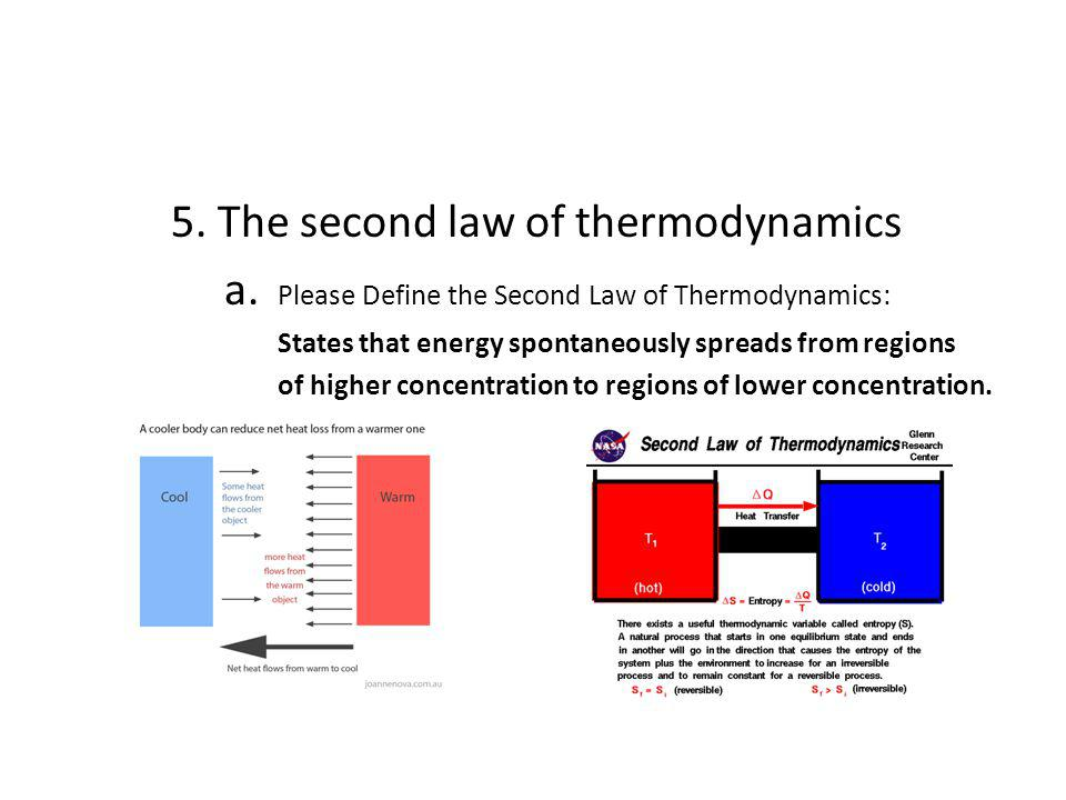 5. The second law of thermodynamics
