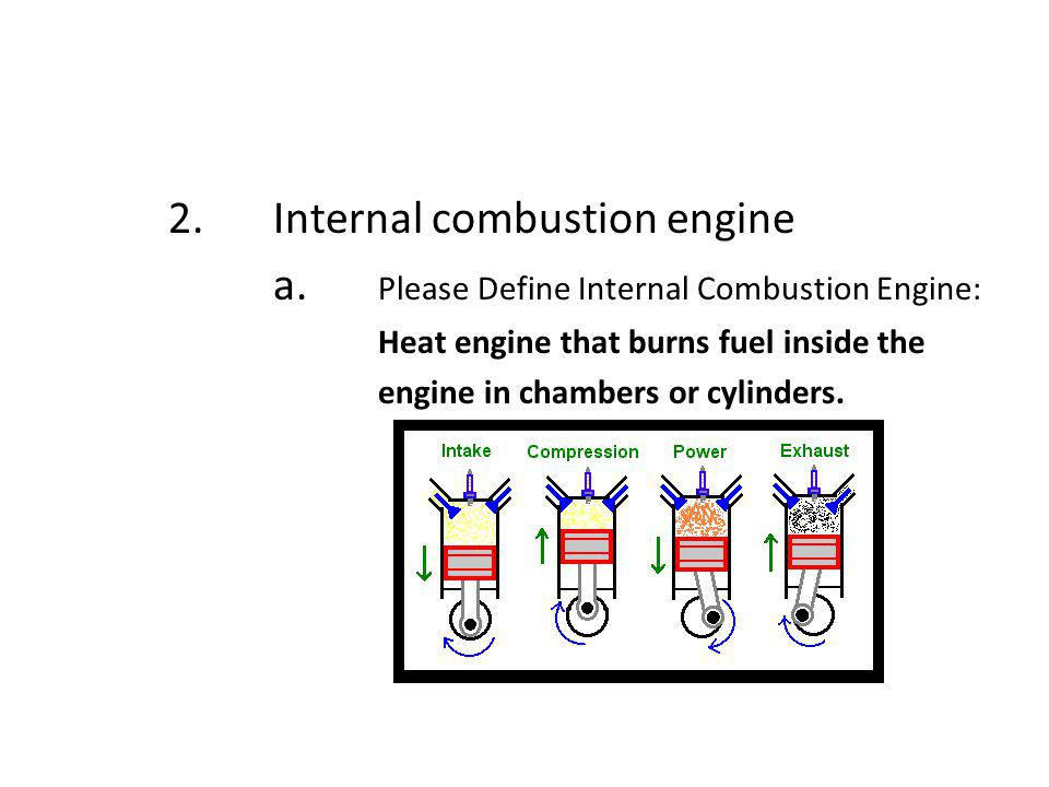 2. Internal combustion engine