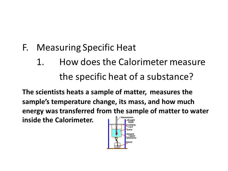 F. Measuring Specific Heat 1