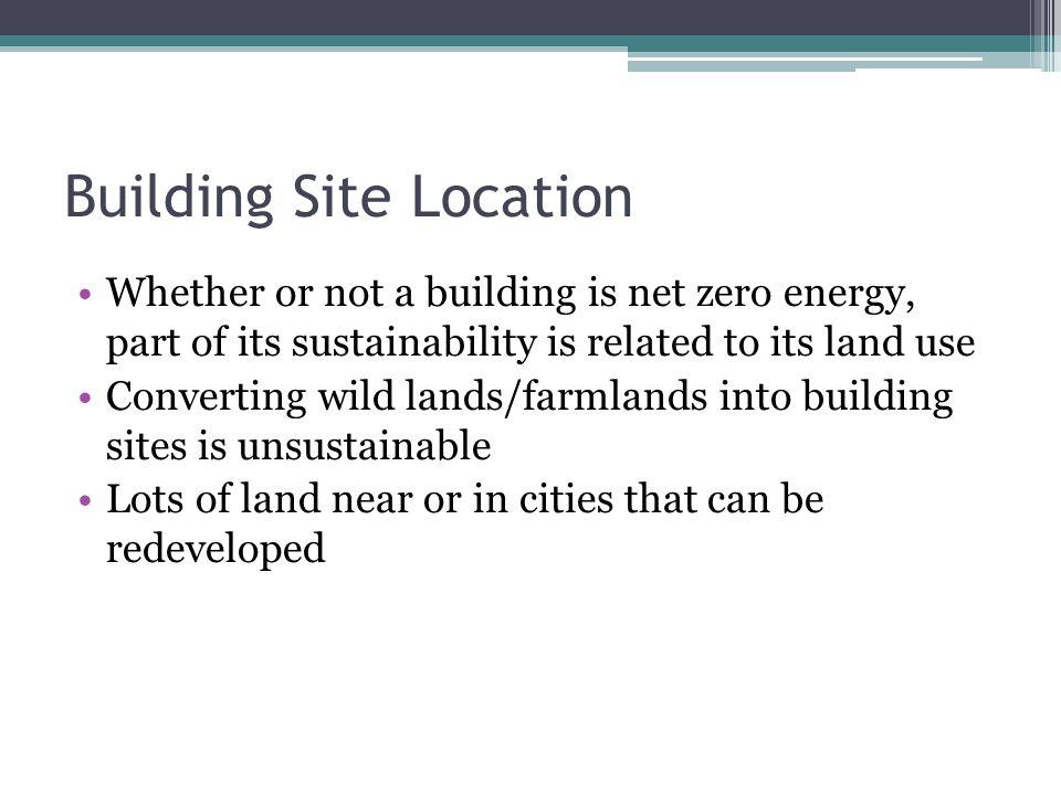 Building Site Location