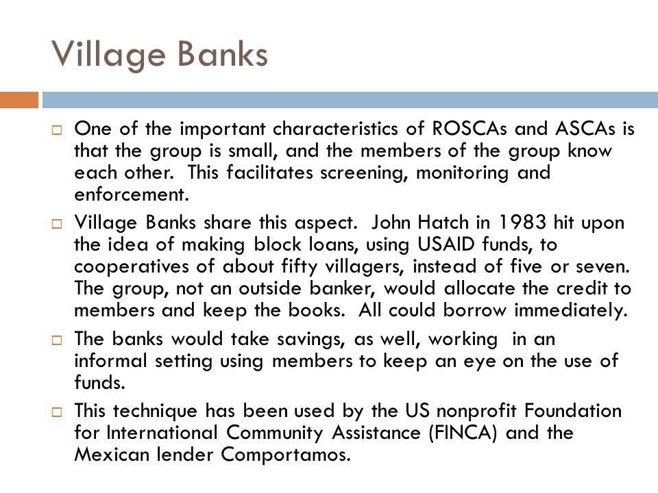 Village Banks