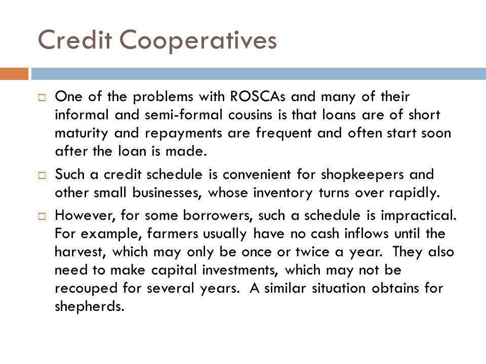 Credit Cooperatives