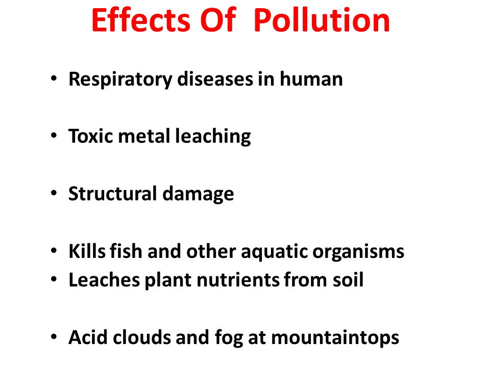 Effects Of Pollution Respiratory diseases in human