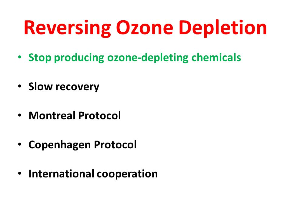 Reversing Ozone Depletion