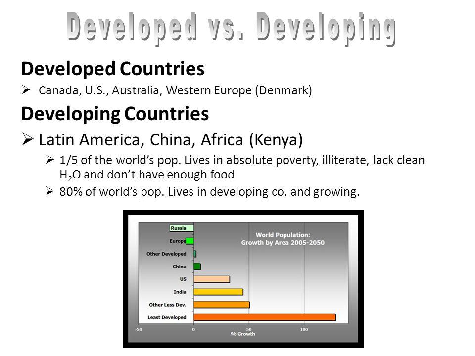 Developed vs. Developing