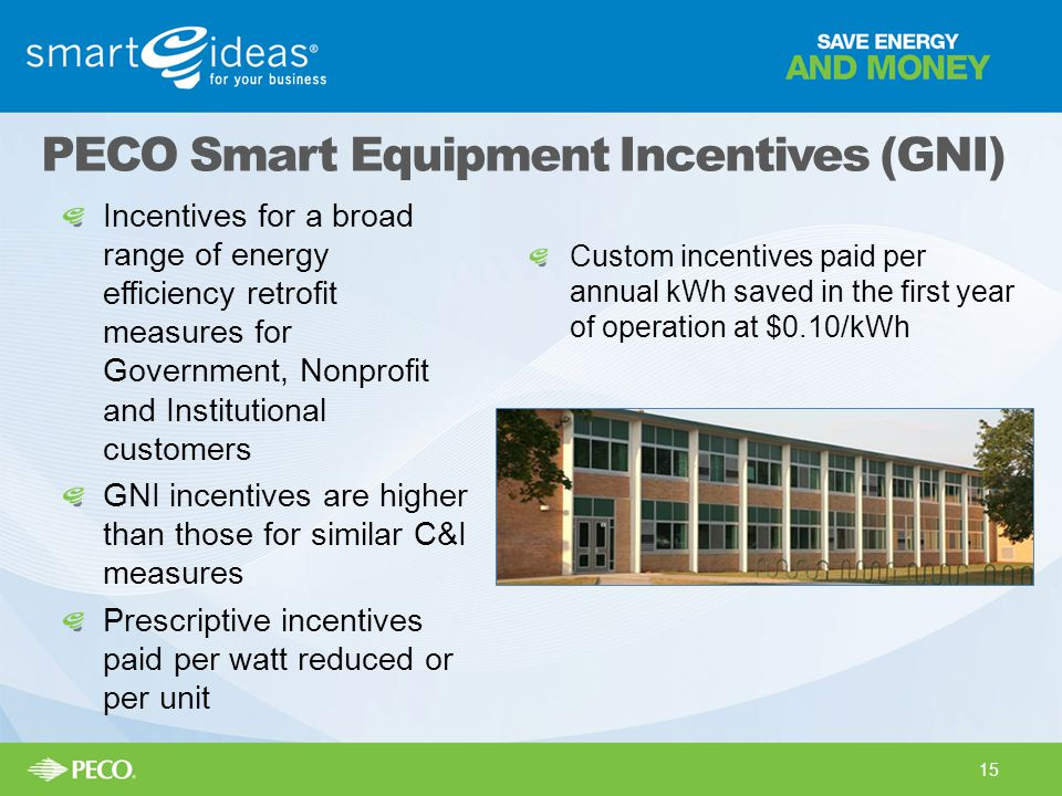 PECO Smart Equipment Incentives (GNI)