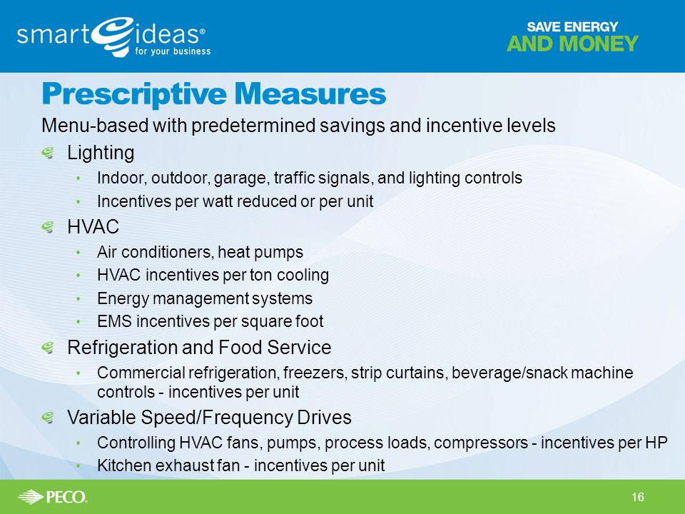 Prescriptive Measures
