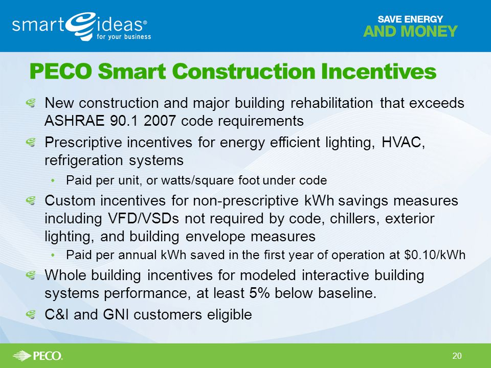 PECO Smart Construction Incentives