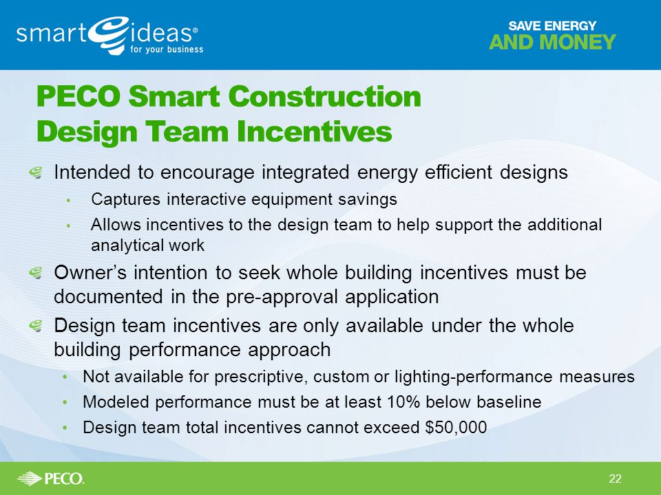 PECO Smart Construction Design Team Incentives