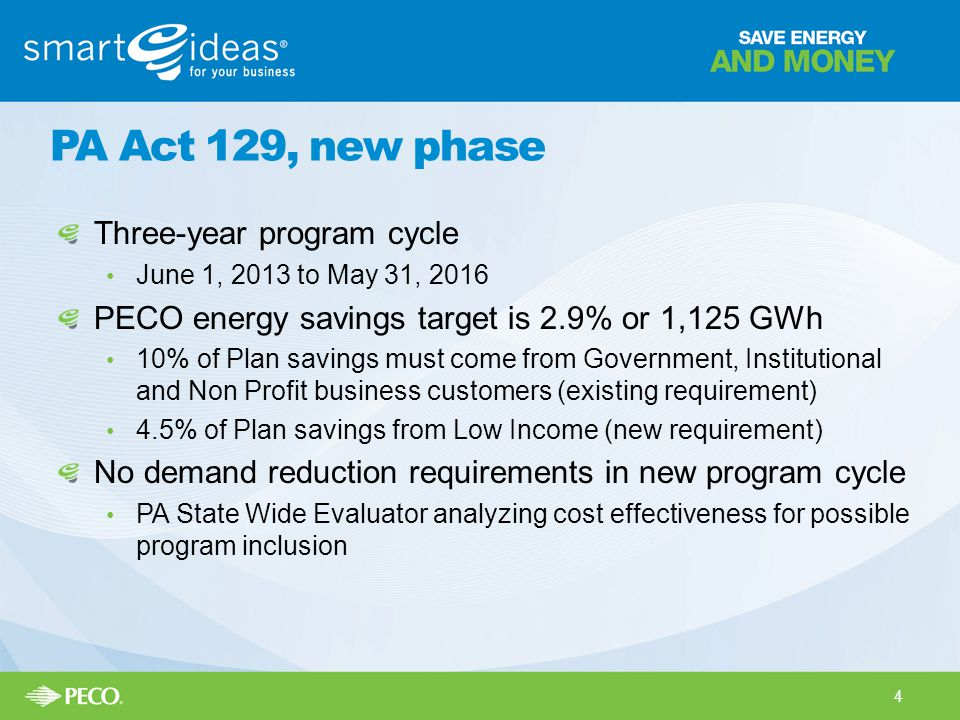 PA Act 129, new phase Three-year program cycle
