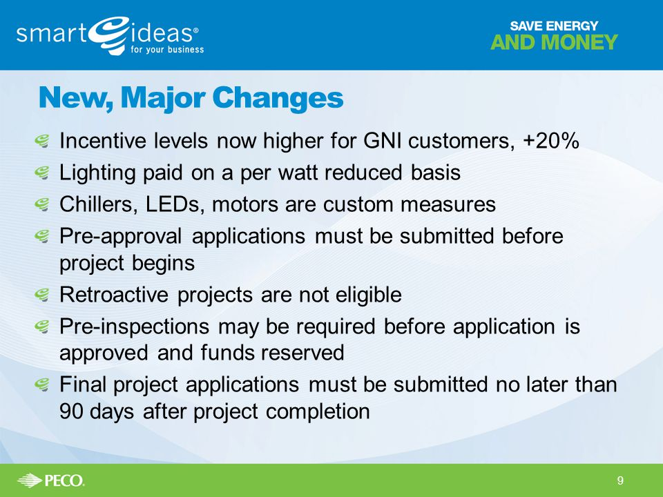 New, Major Changes Incentive levels now higher for GNI customers, +20%