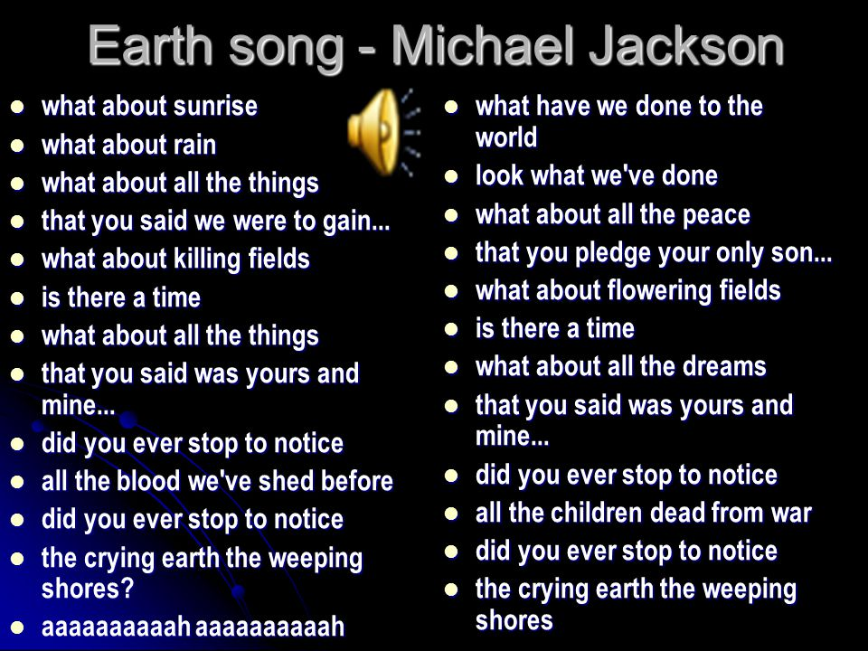 Earth song michael jackson ppt video online download earth song michael jackson toneelgroepblik Image collections