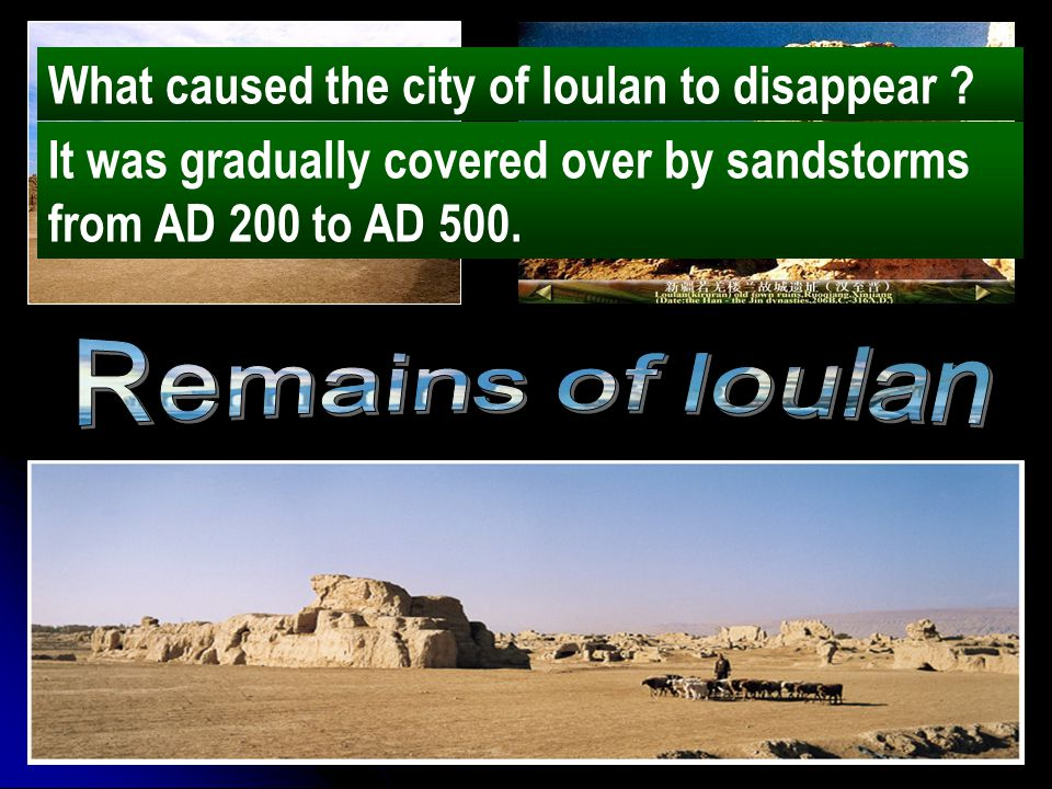 What caused the city of loulan to disappear