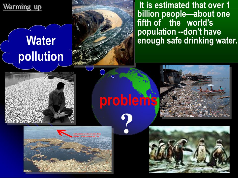problems Water pollution